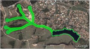 Delimitação das APPs da Represa do Limoeiro. (Escala aproximada)